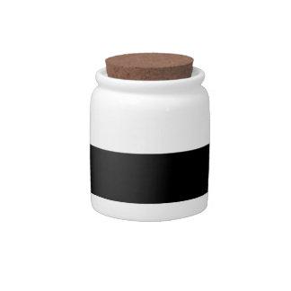Modern Black White Stripes Pattern Candy Dish