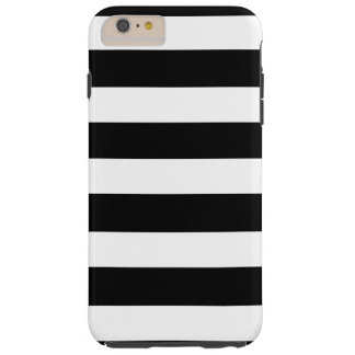 Modern Black White Stripes Pattern Tough iPhone 6 Plus Case