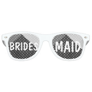 Modern black white triangles colorblock Bridesmaid Retro Sunglasses