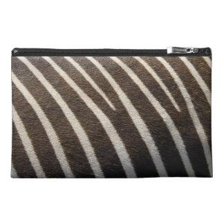 Modern Black White Zebra Animal Stripe Print Travel Accessories Bags