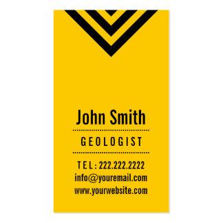 Modern Black & Yellow Geologist Business Card