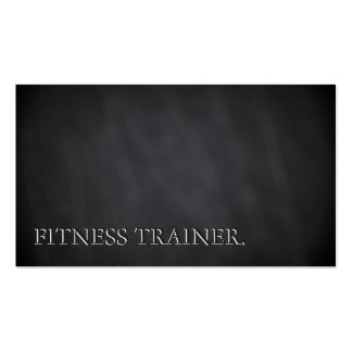 Modern Blackboard Chalkboard Fitness Bold Text Pack Of Standard Business Cards