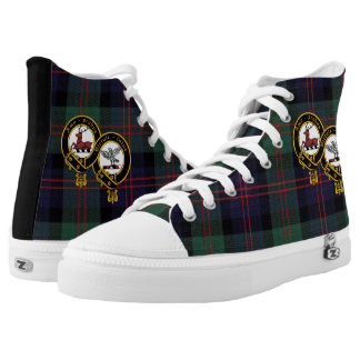 Modern Blair Plaid High Top Shoe with Crest