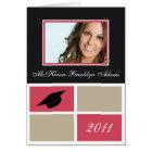 Modern Blocks Folded Graduation Invitation (pink)