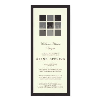 Modern Blocks Grand Opening Invitation (black)