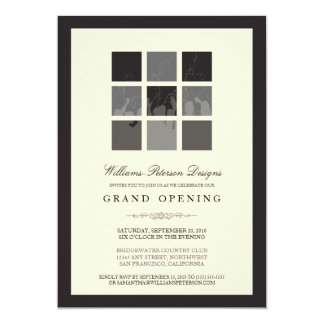 Modern Blocks Grand Opening Invitation (black)