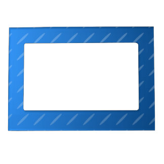 Modern Blue Abstract. Thin Ovals Pattern. Magnetic Frame