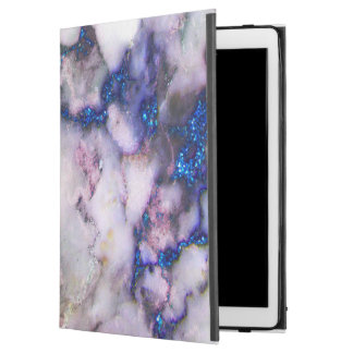 "Modern Blue And Gray And Pink Marble Stone iPad Pro 12.9"" Case"