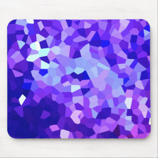 Modern Blue and Purple Stained Glass Mosaic Mouse Mat