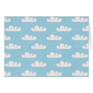 Modern Blue and White Clouds Greeting Card