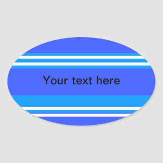 Modern blue and white stripes stickers