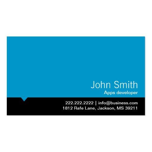 Modern Blue Apps developer Business Card