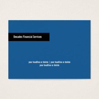 Modern Blue & Black Chubby Business Card