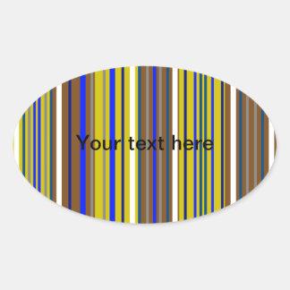 Modern blue brown and white stripes sticker