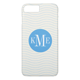 Modern Blue Chevron Pattern iPhone 8 Plus/7 Plus Case