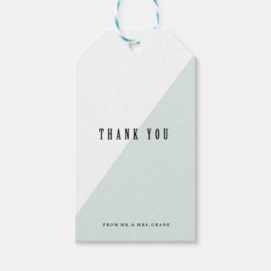 MODERN BLUE COLORBLOCK WEDDING Gift Tags