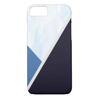 Modern Blue Colors Geometric Triangles iPhone 8/7 Case