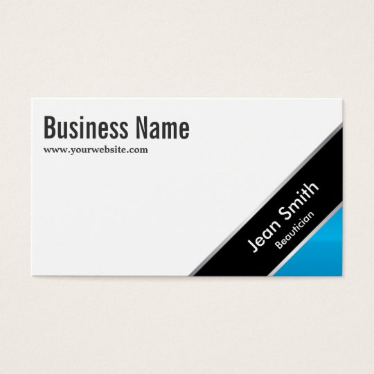 Modern Blue Corner Beautician Business Card