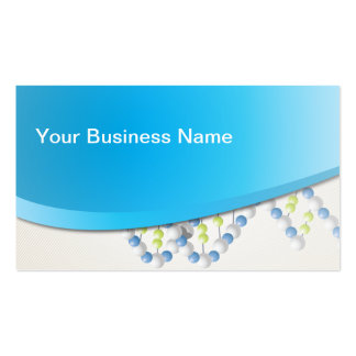 Modern Blue Curve Science Business Card