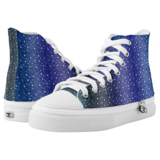 Modern Blue  Custom Zipz High Top Shoes