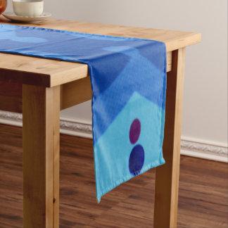"""Modern Blue Deco 14"""" X 72"""" Table Runner"""