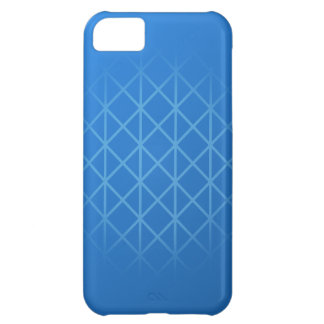Modern Blue Design with part grid pattern. iPhone 5C Case