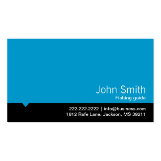 Modern Blue Fishing Guide Business Card
