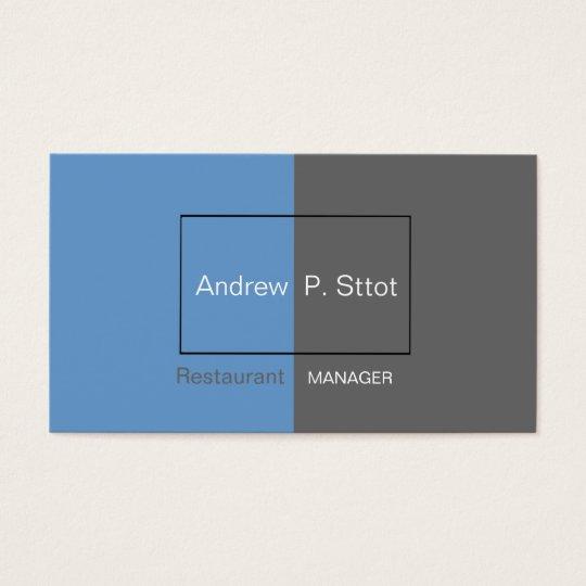 Modern Blue Framed Masculine Customise Buy Online Business Card