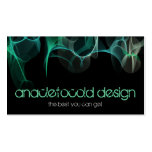 modern blue green smoke bussiness card pack of standard business cards