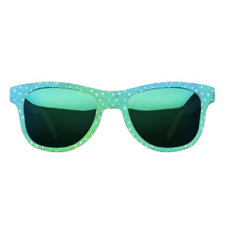 Modern Blue Green Sunglasses