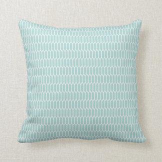 Modern Blue Hexagon Patterned Pillow