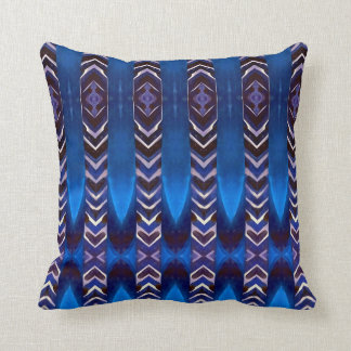 Modern Blue Horizontal Native American Pattern Cushion