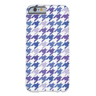 Modern blue Houndstooth Pattern. Barely There iPhone 6 Case