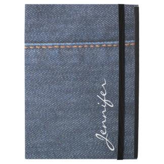 Modern blue Jeans denim look monogram name