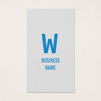 Modern Blue Monogram Programmer Business Card