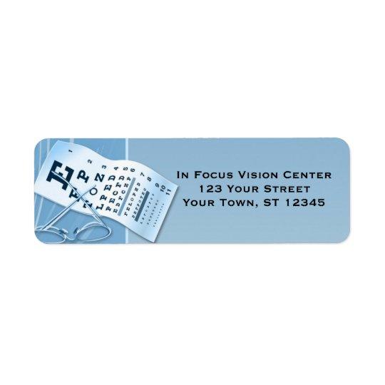 Modern Blue Optometrist Return Address Label