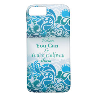 Modern Blue Paisley Iphone Case