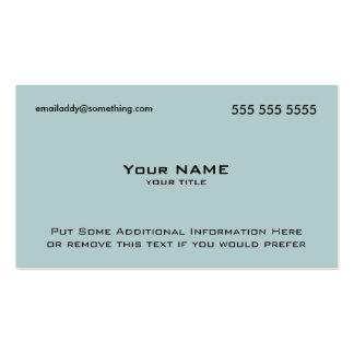 Modern Blue QR Code Pack Of Standard Business Cards