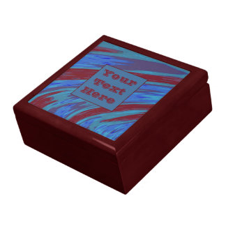 Modern Blue Red Color Swish Large Square Gift Box