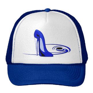 Modern Blue Stiletto Shoe Art Gifts Cap