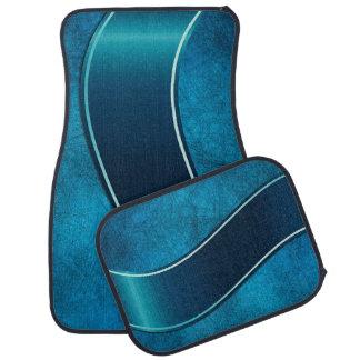 Modern Blue Stripe Car Mat