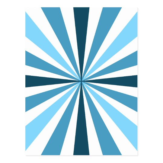 Modern Blue Stripes Postcard