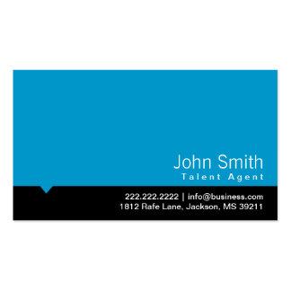 Modern Blue Talent Agent Business Card