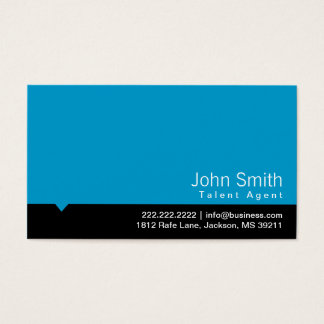Modern Blue Talent Agent Business Card