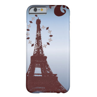 modern blue vintage paris eiffel tower iPhone5case Barely There iPhone 6 Case