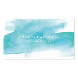 Modern Blue Watercolor Pack Of Standard Business Cards