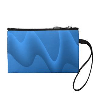 Modern Blue Wave Abstract Design. Coin Purse