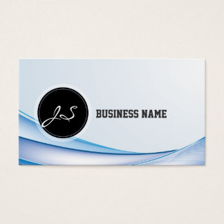Modern Blue Waves Business Card