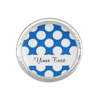 Modern Blue White Polka Dots Pattern