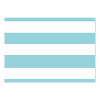 Modern Blue White Stripes Pattern Business Cards